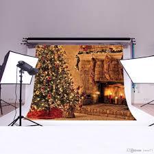 2017 5x7ft vinyl christmas tree fireplace socks photography studio