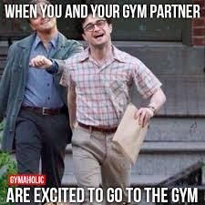 Workout Partner Meme - funny gym partner memes muscular ca