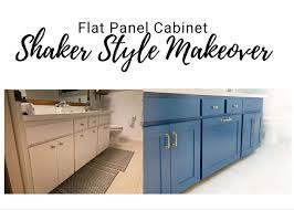 how to trim cabinets adding shaker trim to flat panel cabinets hometalk