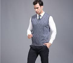 mens sweater vests autumn and s casual v neck sleeveless stripes