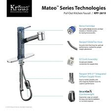 kpf 2610ch mateo single lever pull out kitchen faucet in chrome