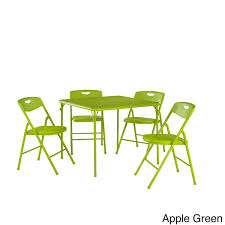 Cosco Folding Chair Cosco 5 Piece Folding Table And Chairs Set Free Shipping Today