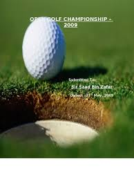 final report golf championship 2009 doping in sport golf course