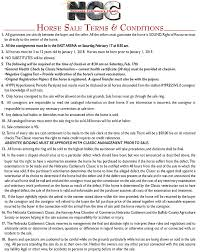nebraska cattlemen u0027s classic ranch horse terms and conditions