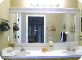 Large Bathroom Mirror Frames Bathroom Mirror Frames Diy Easywash Club