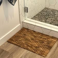 Teak Bath Mat Hip O Modern Living Solid Teak Floor Mat Reviews Wayfair