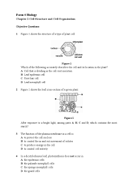 52439344 exercise cell structure and cell organisation vacuole