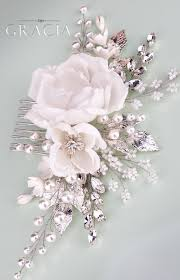 floral hair accessories floral hair accessories white bridal hair flower comb with