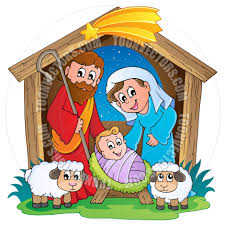 cartoon christmas nativity scene by clairev toon vectors eps 38623