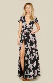 this floral full length dress is giving us the romantic and