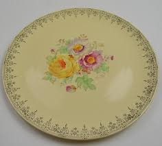homer laughlin china virginia value homer laughlin floral pattern yellow serving platter 9 375