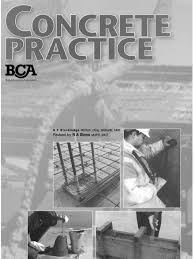 bca concrete practice 3rd edition concrete construction