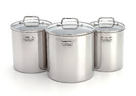 all clad stainless accessories canister set 3pc