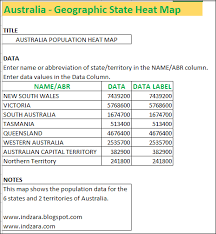 Data Mapping Excel Template Australia State Heat Map Excel Template