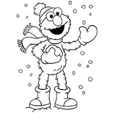 cute winter coloring pages cute elmo coloring pages free printables momjunction