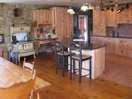L Shaped Kitchen Island Kitchen Rustic Kitchen Brown Exposed Beam L Shaped Kitchen