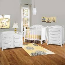 White Convertible Crib With Drawer by Storkcraft 3 Piece Nursery Set Valentia Convertible Crib Avalon