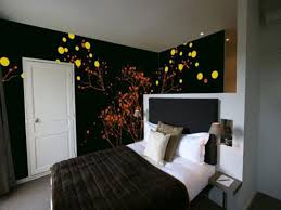 Wall Painting Ideas Bedroom Beautiful White Black Wood Modern Design Painting Ideas