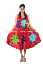 multi color tie dye rayon fabric umbrella dress plus size 10