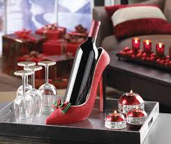 wholesale holiday heel wine bottle holder cheap