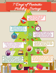 7 days of fantastic holiday savings infographic billadvisor com