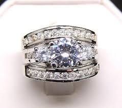 engagement and wedding ring set carlie 3 3 ring bridal engagement wedding band ring set
