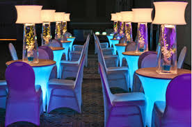 Spandex Chair Cover Rentals Spandex Fitted Table And Chair Covers With Light Underneath
