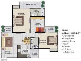 1350 sq ft 2 bhk 2t apartment for sale in panchsheel greens 2