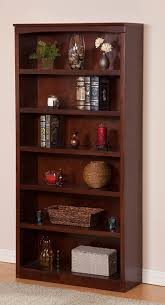 amazon com harvard book shelf 72 inch antique walnut kitchen