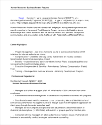 Human Resources Job Description For Resume by 6 Business Resumes Free Sample Example Format Free