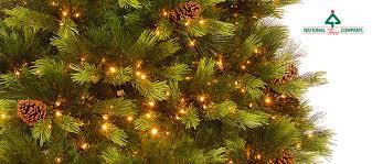 Fibre Optic Slim Christmas Trees - national tree company home