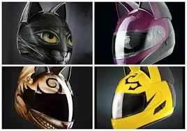 motorcycle helmets neko motorcycle helmets featuring cute cat designs are purr fect