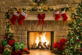 wallpaper christmas new year gift fireplace fire christmas