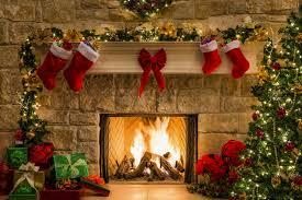 christmas fire place wallpaper irebiz co