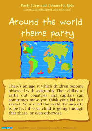 around the world theme for mocomi