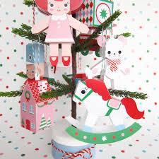 christmas toys ornament collection printable paper christmas
