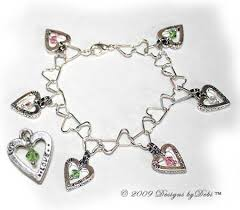 sterling silver crystal heart bracelet images Designs by debi handmade jewelry bracelet boutique jpg