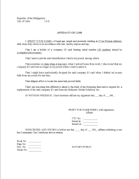 perfect affidavit of loss example with statement and personal