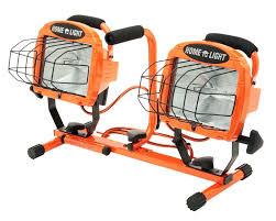 hdx portable halogen work light designers edge l 14 1000 watt twin head adjustable work light with