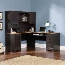exellent l shaped desk with hutch black floating storage walnut
