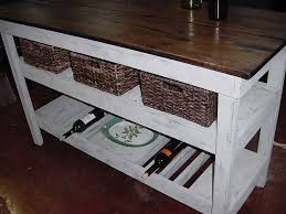 distressed oak top u201d wine bar buffet table with 3 basket shelf
