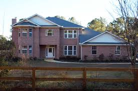 neoclassical house plan alluring one story brick home custom built homes