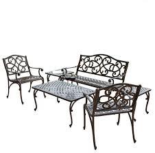 Aluminium Patio Table Cast Aluminum Patio Outdoor Glamorous Black Cast Aluminum Patio