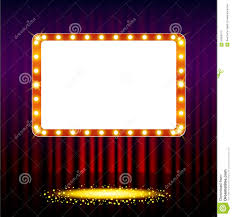 frame on stage curtain with lights stock vector image 65262413