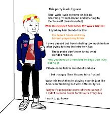 Frank Ocean Meme - frank ocean fan at a party rebrn com