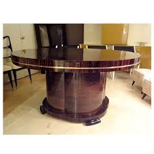 Large Round Dining Room Tables A Large Round Extending Art Deco Dining Table By J Decoene For
