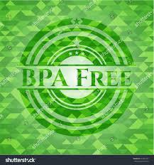 bpa free green emblem mosaic background stock vector 612993161