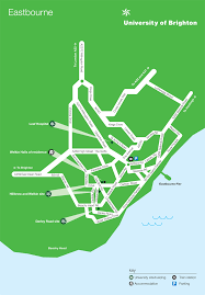 Brighton England Map by Eastbourne Maps