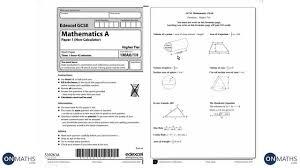 Test Of Genius Worksheet Answers Gcse Maths Edexcel Official Mock 1h Higher Non Calculator Walking