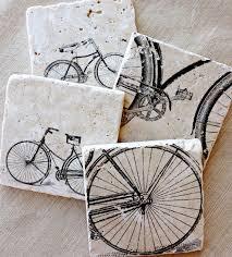 bike coasters bike gift bicycle bike bicycle decor lotuspetale